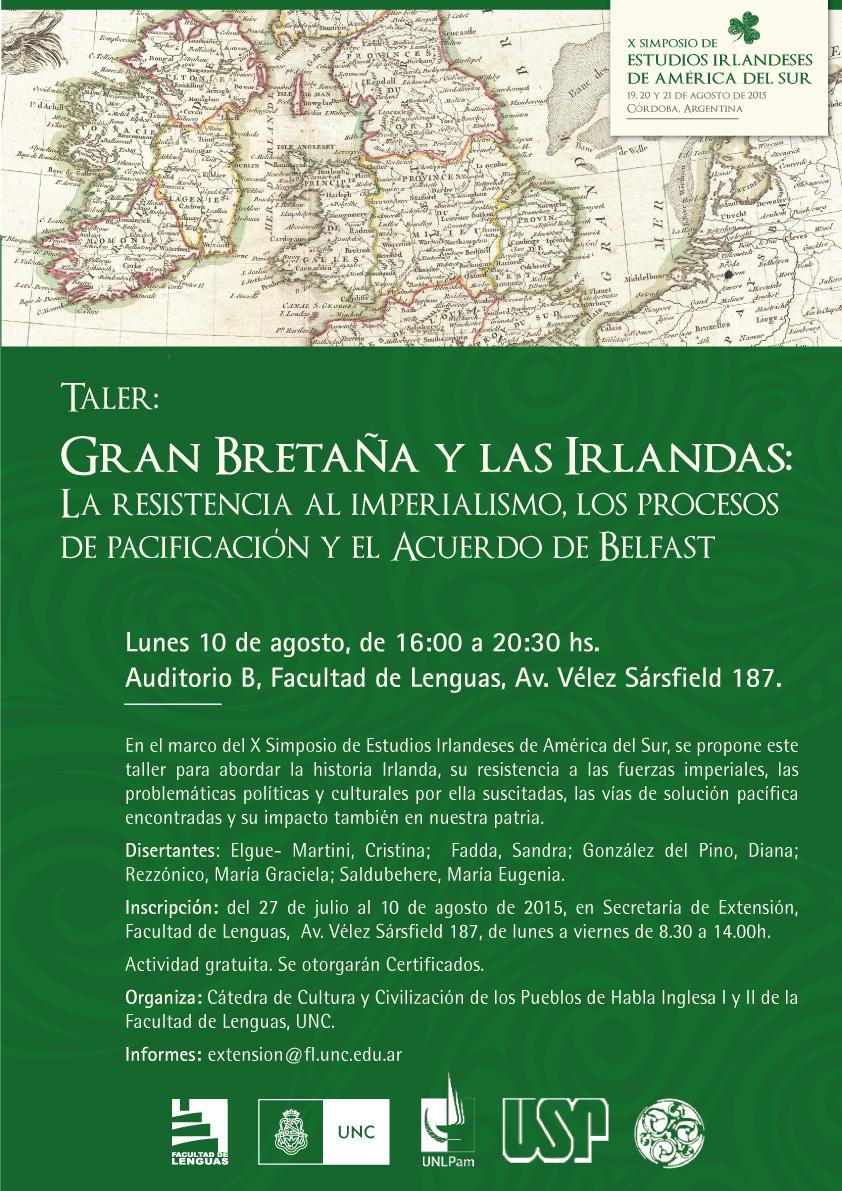 TALLER: Gran Bretaña y las Irlandas - Irlandeses de Córdoba